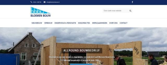 Bloemen Bouw heeft een nieuwe website