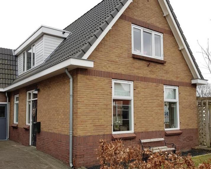 Zwolle, gevelrenovatie, snijvoeg, stralen en impregneren