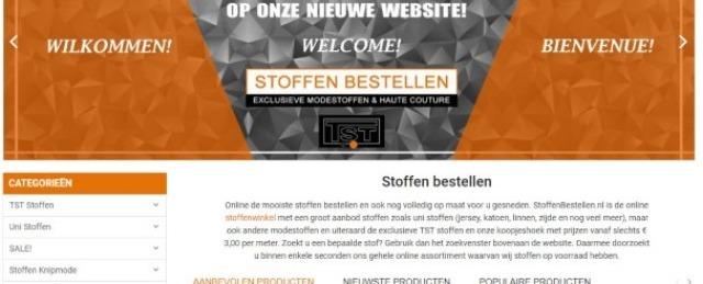 Nieuwe website StoffenBestellen.nl